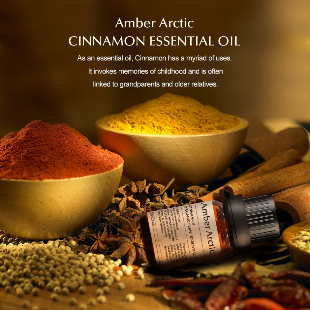 Cinnamon essential oil 10ml skin care SPA body massage Fragrance light Aromatherapy plant Tighten skin Soothe digestive tract in Essential Oil from Beauty Health