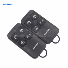 DIYSECUR K6 Wireless 433Mhz Keyfobs Remote Control for Our Related Home Alarm Home Security System Black