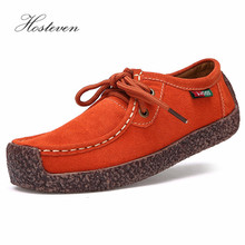 Hosteven Women Shoes Sneakers Flats Genuine Leather Casual Plush Fur Loafers Slip On Shoe Low Heel Moccasins Footwear