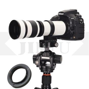JINTU 420-800mm White F/8.3 MF Telephoto Camera Lens for SONY NEX A6000 A6100 A6300 A6400 A6500 A7 A7S A7R A7MII A7RIII A9 Camer