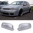 1 Pair Car Door Wing Mirror Cover Caps Fit For VW R32 GTI Rabbit Bora Golf 4 MK4 Jetta Passat 1996 - 2004 3B1857537 3B1857538