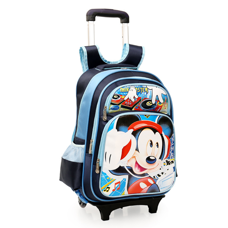 ФОТО Quality Goods Lovely Cartoon Children Pull Rod A Bag Grade 3456 Waterproof Both Shoulders Package