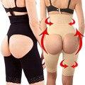 Mujeres Butt Lifter cordón Wasit Cinchers glúteos Enhancer Tummy Control de las bragas del vientre térmica delgado de la pierna recorte con hebilla colgante