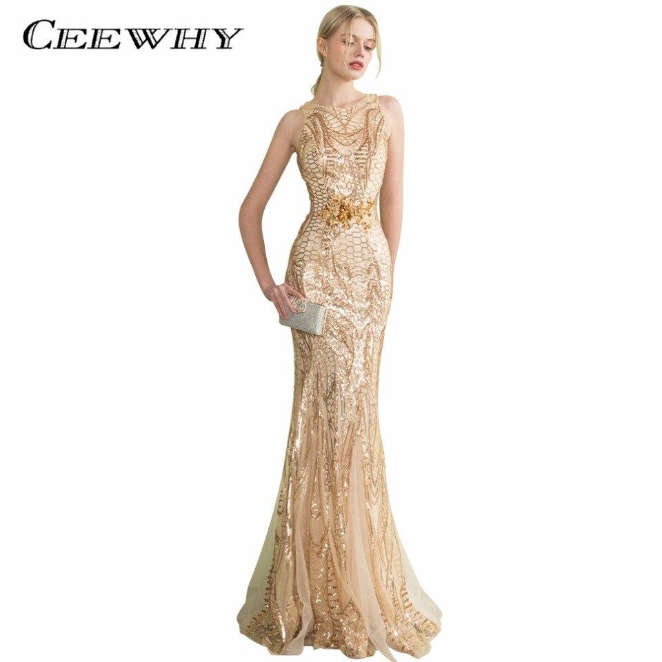 US $10.10 CEEWHY Robe De Soiree Kristall Meerjungfrau Kleid Lange Tüll  Abendkleider Lange Pailletten Abendkleid Prom Kleider Abendkleidsequin