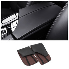 цена на for BMW 5 Series F18 2011 2012 2013 2014 2015 2016 2017 Center Console Armrest Pad Microfiber Leather Protection Trim Cover