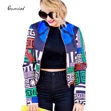 2016 New Trendy Women Parkas Coat Women Spring Autumn Solid Coats Cotton  Round Collar Print Slim Coat for Women Jacket