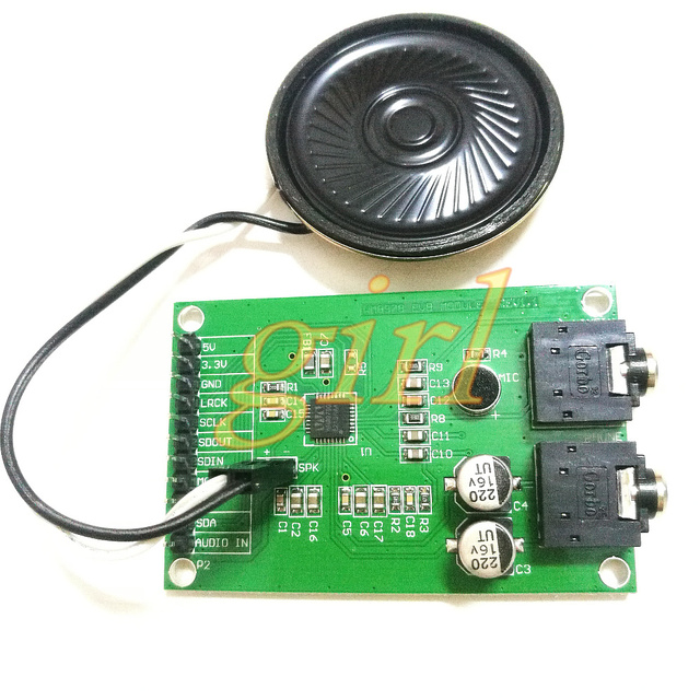 US $10 49 7% OFF|WM8978 audio I2S decoding with loudspeaker module STM32  audio recording playback Mp3 soft solution-in Instrument Parts &  Accessories