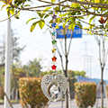 H&D Chakra Crystal Guardian Angel Glass Rainbow Maker Collection with Crystal Ball Hangings Suncatcher for Window