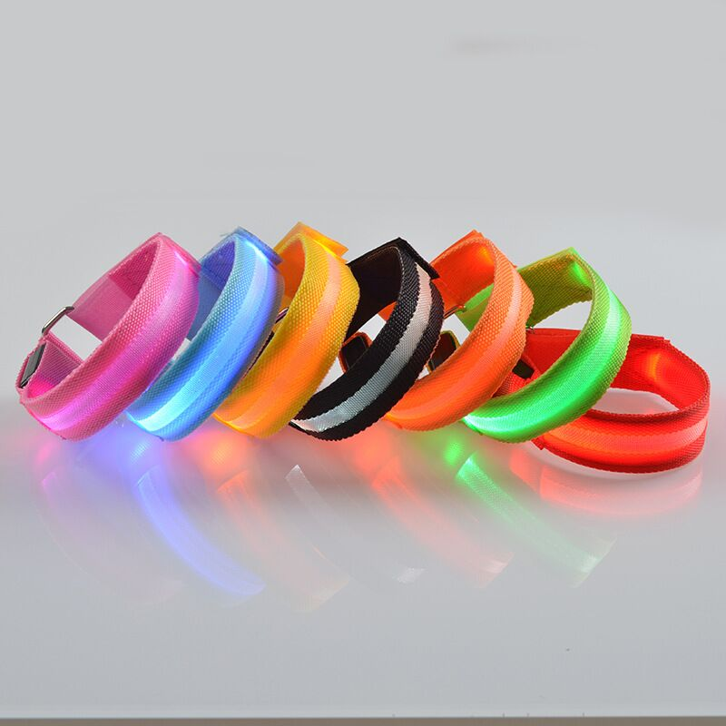 D32 pet dog cat collar nylon lights collar light emitting LED pet collar dog collar USB Rechargeable in Collars from Home Garden
