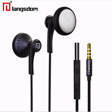 Langsdom T16 3.5MM Earphone Super Stereo Bass Noise Isolation Headphone with micphone support phone call