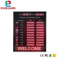 Precio Alibaba expreso LED de señal de banco y hotel moneda tablero de tasa de cambio