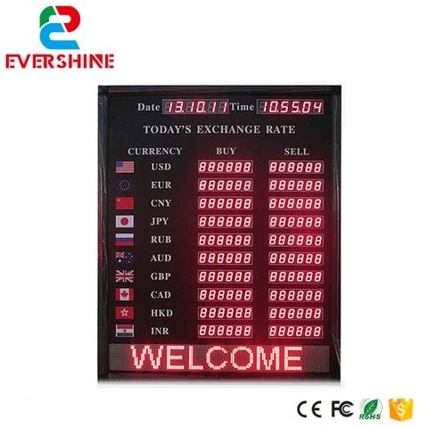 alibaba expressar sinal display led indoor placa de taxa de cambio do banco e do
