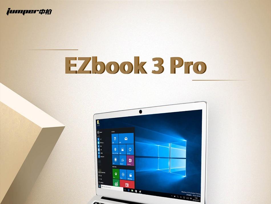 Jumper EZbook 3 Pro Intel Apollo Lake N3450 6G DDR3 64GB eMMC ultrabook IPS 1920 x 1080 laptop with M2 SSD Slot (1)