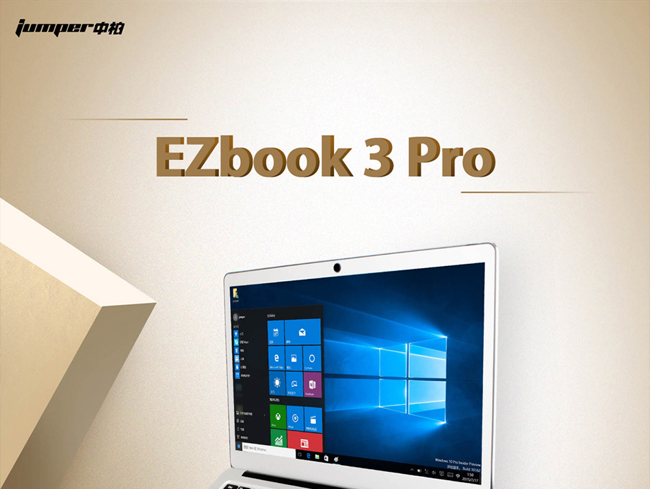 Jumper EZbook 3 Pro Intel Apollo Lake N3450 6G DDR3 64GB eMMC ultrabook IPS 1920 x 1080 laptop with M2 SSD Slot (1)