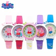 New Peppa Pig Cartoon Figure Watch Toys Children's Electronic Waterproof Watch L