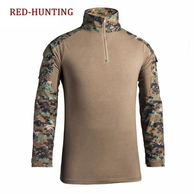 Military Gear Zip Long Sleeve Combat Frog Shirt Multicam Black Tactical  Shirt Combat Top Shirt For Outdoor Hiking Hunting-in Hiking Shirts from  Sports ... f92a796f5c6