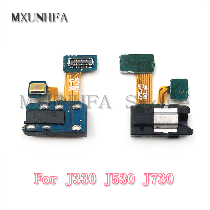 Audio Headphone Earphone Jack Flex Cable For Samsung Galaxy J3 J5 J7 2017 J330 J530 J730 With Microphone Ribbon Replacement