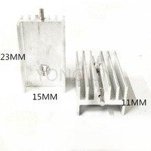 10 шт. Транзистор радиатора 15*11-23 мм/алюминиевый радиатор/радиатор to-220