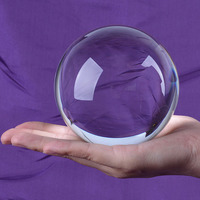 Ship From USA LS Clear Quartz Crystal Ball 100mm Sphere ORB Photo Props Free Stand Box Pack Free Shipiing
