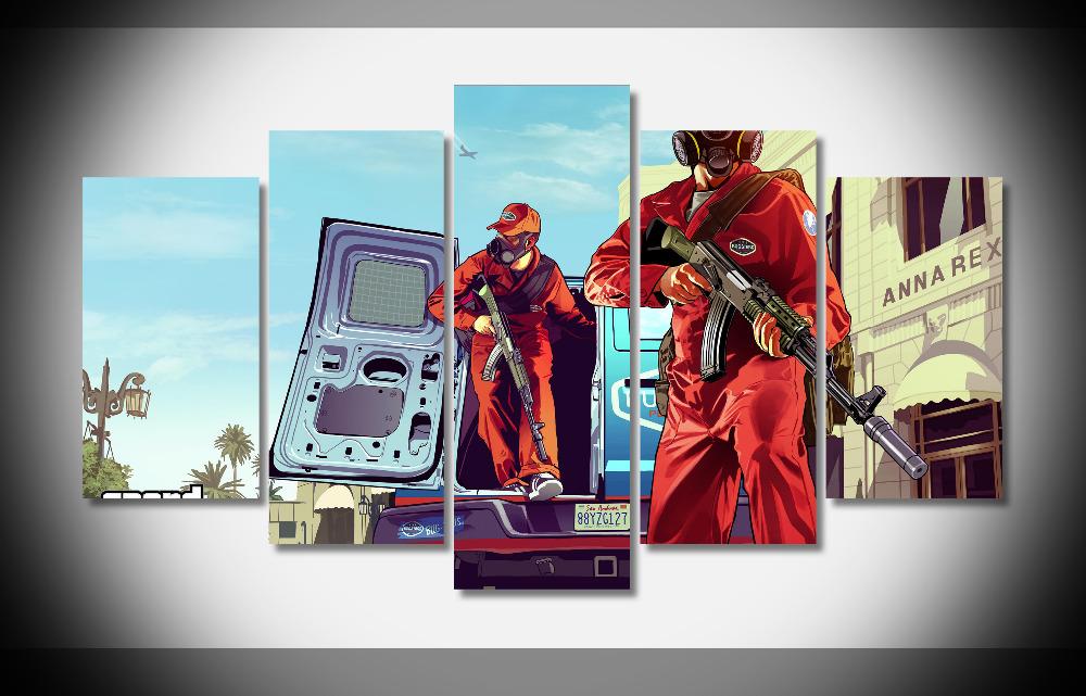 grand theft auto v k poster enmarcado impresiones cuadro de la pared decoracin