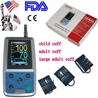 ABPM50 + 3 cuff 24 hours Ambulatory Blood Pressure Monitor Holter ABPM Holter BP Monitor with software contec