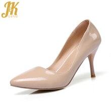 JK Super Size 32-48 High Heels Ladies Pumps New Spring Fashion Handmade Court Wo
