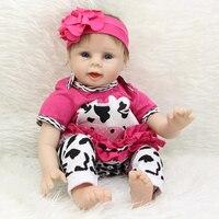 22 дюймов силикона Reborn Baby куклы Оптовая реалистичные девушка родившихся модные мягкие виниловая ткань игрушка кукла малыш на день рождения