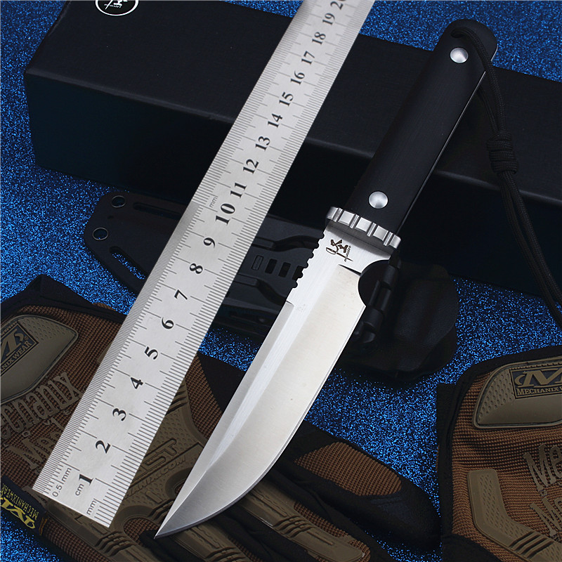 2017 New Free Shipping Fixed Outdoor Hunting Straight Knife Self-defense Wilderness Survival Camping High Hardness Tool Knives hx small mercenary survival hunting knife d2 steel blade fixed blade knife straight camping knives multi tactical hand tools