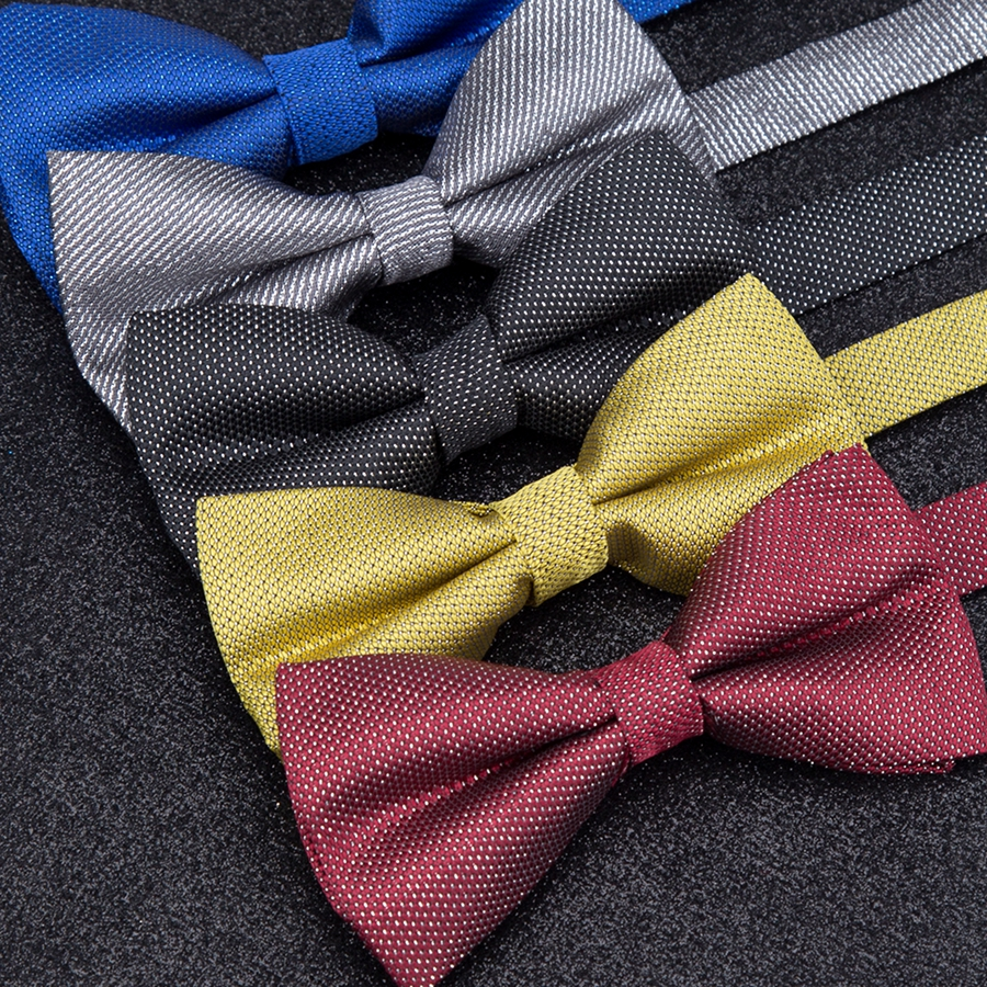 Men Bowtie Solid Glisten Fashion Mens Wedding Parties Dress Pajarita Ties Gravatas Homens Shirt Bow Tie Corbatas Para Hombre