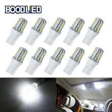 цена на T10 LED W5W 192 168 Bulb 3014 Chipset 24 SMD Silicone LED 12V White LED Auto Light Bulbs For Car Dome Trunk License Plate Lights