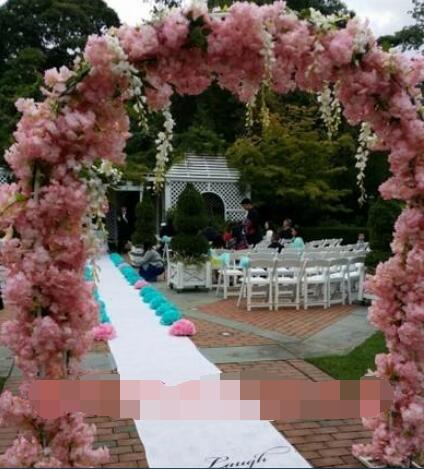 Free shipping,High-1M.Quad wedding simulation flower pear cherry peach silk props decora ...