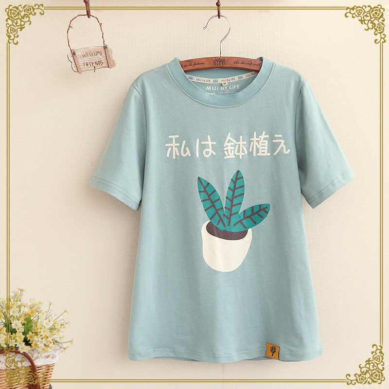 Blusa Top Fashion Exo Unicorn 2016 New Summer Japanese Women's Korean Female Student Cartoon T-shirt Shirt Sleeved Loose Women