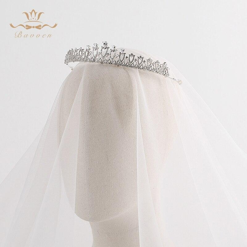 Nuset e Modës Bavoenë, Argjendë Evropiane Tiara për Flokët e - Bizhuteri të modës - Foto 6