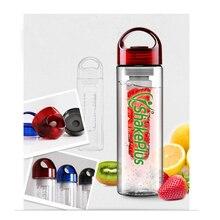 10 шт./лот 700 мл логотип качество Фрукты Заварки спортивные бутылки для воды BPA Бесплатный полезный лимонный сок сделать Бутылки Кемпинг чашки оптом