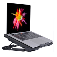 Portable Laptop Cooler USB Fan Cooling Pad 2 Fans External Laptop Fan Cooler Notebook for Macbook Xiaomi Laptop Adjustable Stand