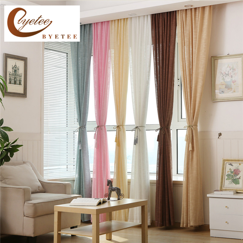 {byetee} European Tulle Kitchen Sheer Organza Voile Curtains Doors For Bedroom Window Bird's Nest Curtain Living Room Window