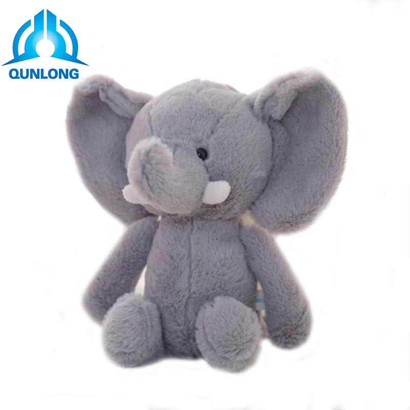 Qunlong 25cm 4 Kinds Cute Unique Plush Elephant Boy Girl Love Kawaii Soft Animal Stuffed Toy For Kid Accompany Doll Holiday Gift