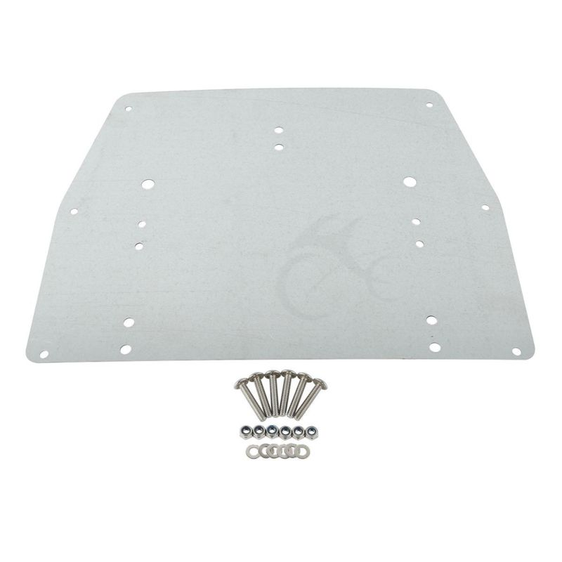 Tour Pak Pack Trunk Of Metal Base Plate For Harley Touring Electra Glide Ultra Classic FLT FLHT FLHTCU FLHR 1993-13 New for harley softail fxdwg dyna wide glide 1993 2008 flhr flt flht dresser 1980 2008 diamond billet aluminum black shift linkage