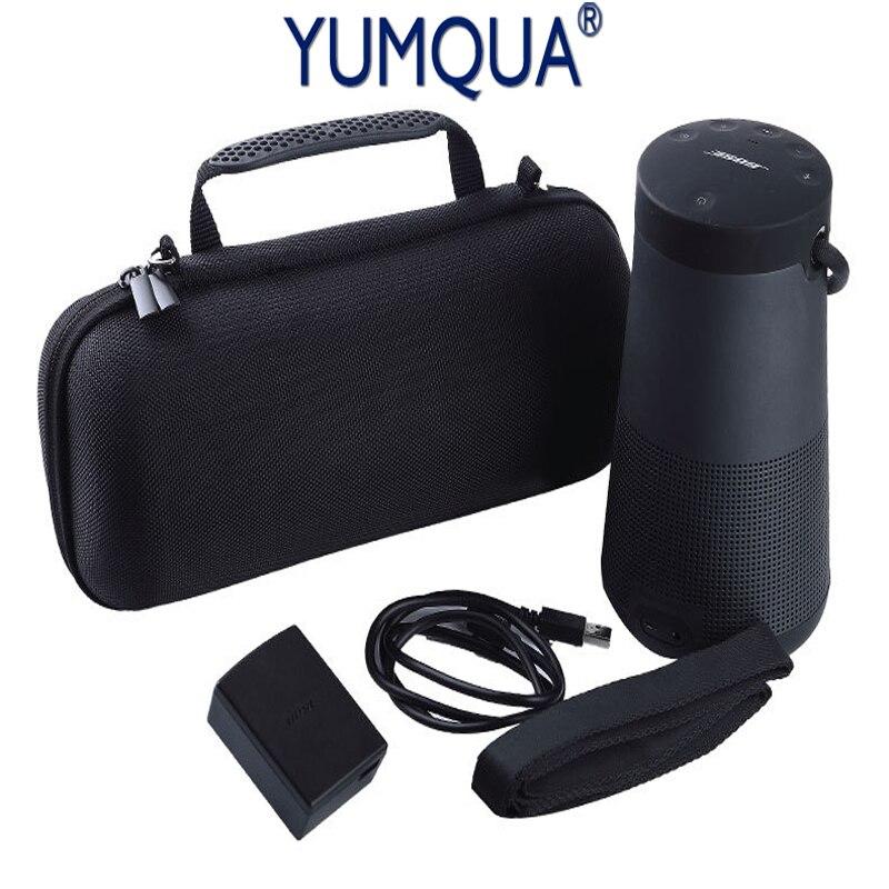 YUMQUA EVA Per Bose Soundlink Revolve + Plus. Astuccio Con Cerniera Portatile viaggi Outdoor Speaker Box Copertura Del Sacchetto Spazio Extra Plug & cavo