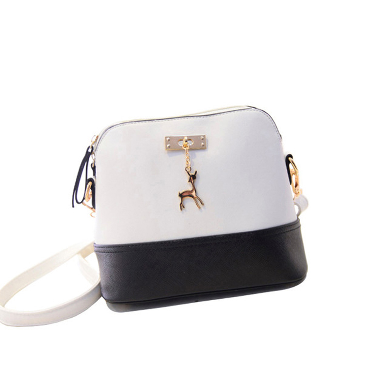 New Arrival Woman Handbag Fashion Single-Shoulder Bag Leisure PU Leather Shell package Korean Style Crossbag with Fawn for Girls 2016 summer mix color cloth art shoulder woman bag leisure packages exclusively for export national bag