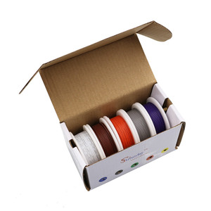 Image 5 - 25m ul 1007 18awg 5 cores caixa de mistura 1 caixa 2 pacote linha de cabo fio elétrico linha aérea cobre pcb fio