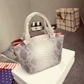 2016 Designer Brand Bags Snake Skin Women Handbag Serpentine Women Messenger Bag Lady Purse Gift Female Small Tote Women Handbag