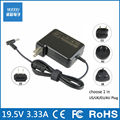 19.5V 3.33A 65W Factory Direct power adapter charger for HP Ultrabook Envy 4 Envy 6 Pavilion 15 14-b017cl US/EU/AU/UK Plug Black