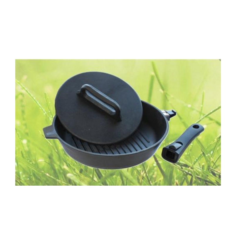 Сковорода-гриль Камская посуда, 28 см, с крышкой-прессом