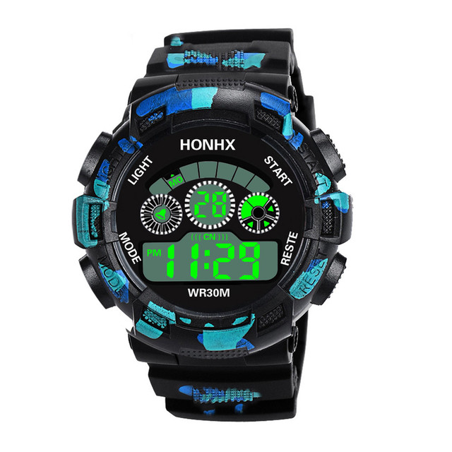 Luxury Men Analog and Digital  LED Waterproof Sport Wrist Watch