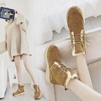 MYCORON 2018 теплые зимние ботинки женская мода обувь популярные ботильоны для Для женщин плюшевые Стельки зимние сапоги Botas де Mujer