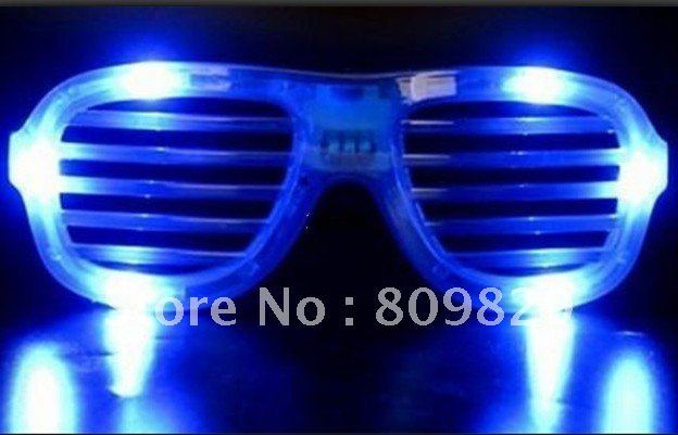 2012 new arrival 96pcs/ lot LED Flash Glasses Decorative Glasses Light Shutter Glasses Super Nice Wholesale And Freeshipping