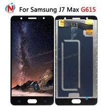 Tela De LCD Para Samsung J7 MAX Display Touch Panel Digitador Assembléia Repalcement Peças 5.7 Para Samsung G615 G615F G615FU lcd