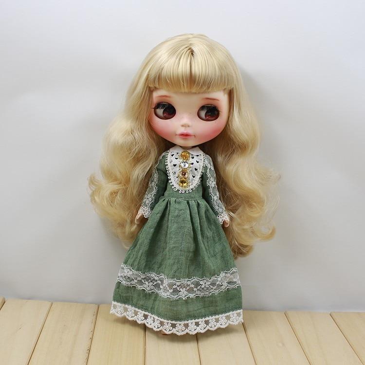 Neo Blythe Doll Retro Mosaic Jewelry Dress 7