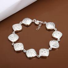 Fina del verano del estilo de plata chapada pulsera 925-sterling-silver joyería pulseras de cadena de diamante para mujeres hombres SB333